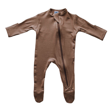 Cozy Zipper Footie Sleeper | Caramel - LITTLEMISSDESSA