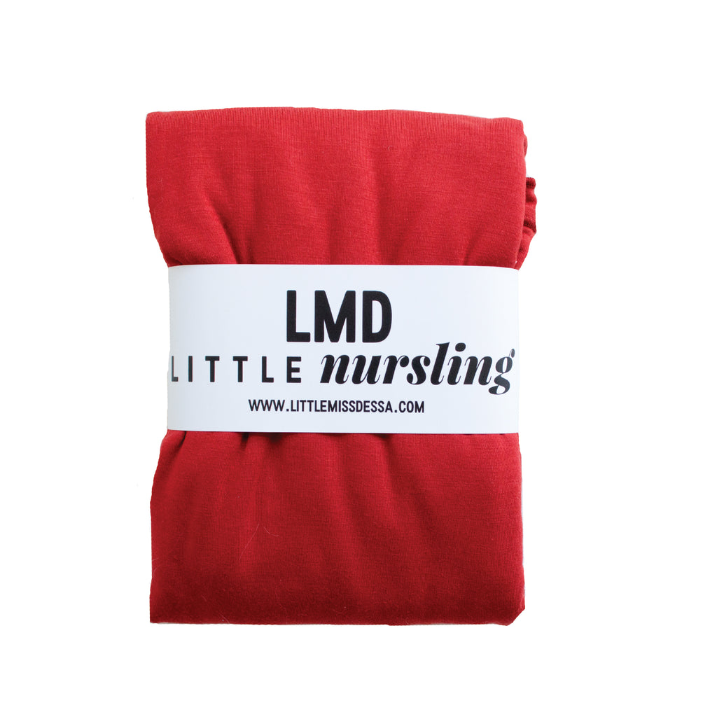 Little Nursling™ Knit Jersey Swaddle Baby Blanket | Crimson