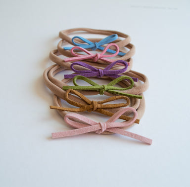 Dainty Bow Headband Set | Rainbow Love