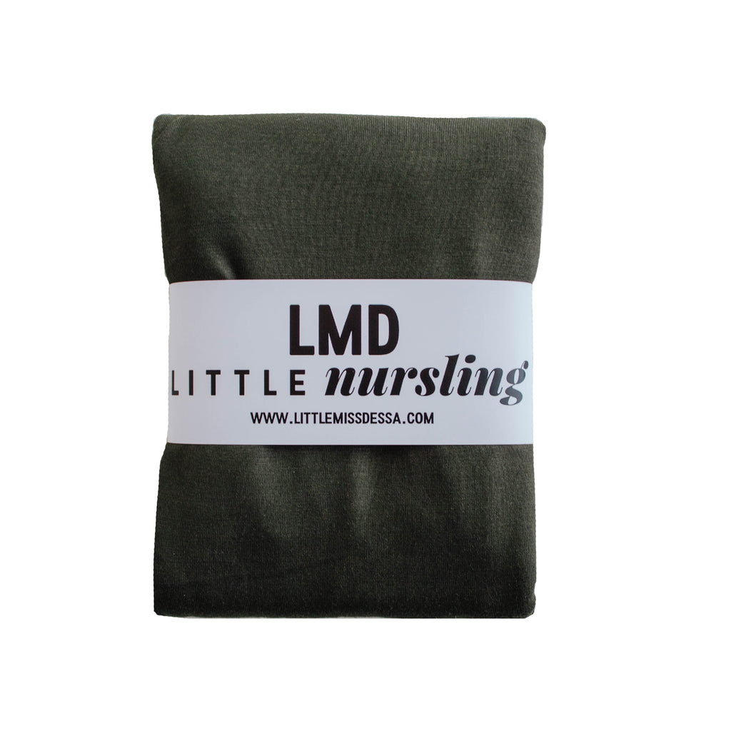 Little Nursling™ Knit Jersey Swaddle Baby Blanket | Dark Moss