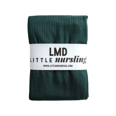 Little Nursling™ Knit Jersey Swaddle Baby Blanket | Dark Teal Rib - LITTLEMISSDESSA
