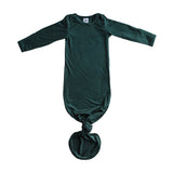Little Nursling® Snuggle Knotted Baby Gown | Dark Teal Rib