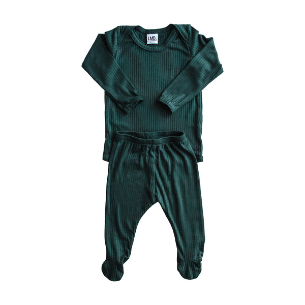 LITTLE NURSLING™ ESSENTIAL SNUGGLE SET | Dark Teal Rib