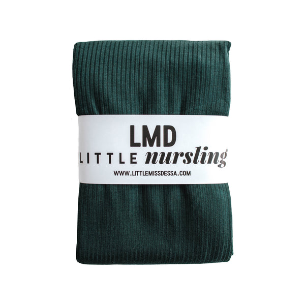Little Nursling™ Knit Jersey Swaddle Baby Blanket | Dark Teal Rib