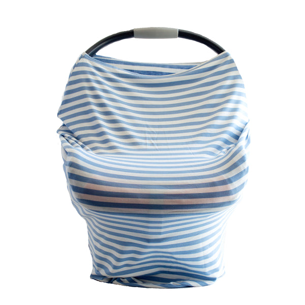 Little Nursling™ Multi-Use Cover | Denim & Ivory Stripe