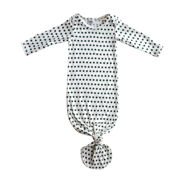 Little Nursling® Snuggle Knotted Baby Gown | Dotty