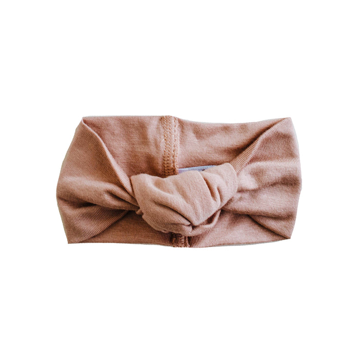 Top Knot Headband | Dusty Mauve - LITTLEMISSDESSA