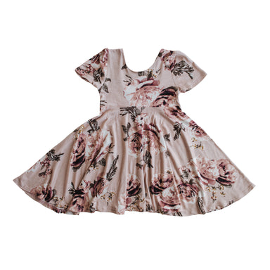 The Jersey Twirl Floral Dress | English Rose - LITTLEMISSDESSA