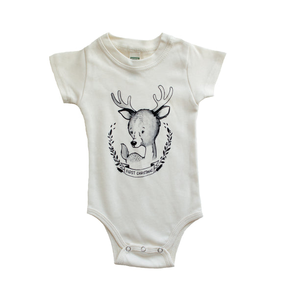 Little Nursling™ First Christmas Organic Cotton Onesie