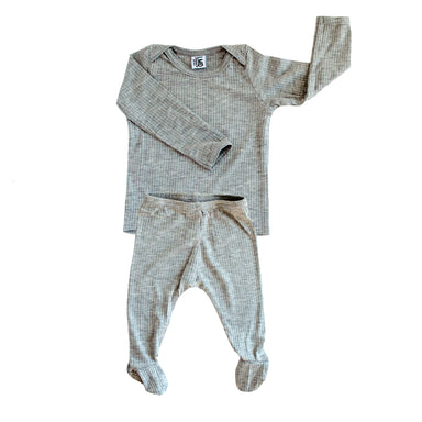 Snuggle Set | Heather Grey Rib - LITTLEMISSDESSA