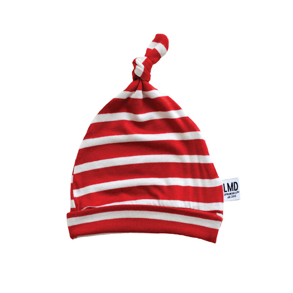 Newborn Baby Knotted Hat | HOLIDAY STRIPE