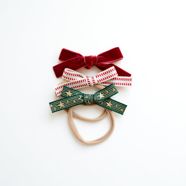 Oversized Bow Headband Set | Holly - LITTLEMISSDESSA