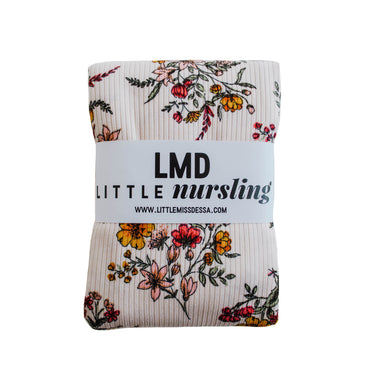 Little Nursling™ Knit Jersey Swaddle Baby Blanket | Honeysuckle Floral Rib