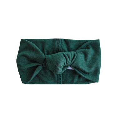 Top Knot Headband | Hunter Green - LITTLEMISSDESSA