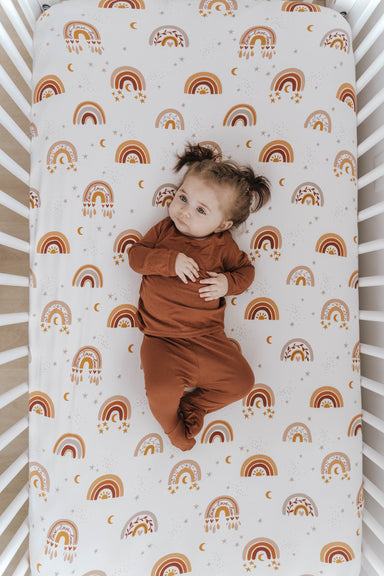 Crib Sheet | Love & Light Rainbow - LITTLEMISSDESSA