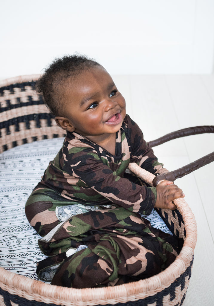 Little Nursling™ Snuggle Knotted Baby Gown | Camo