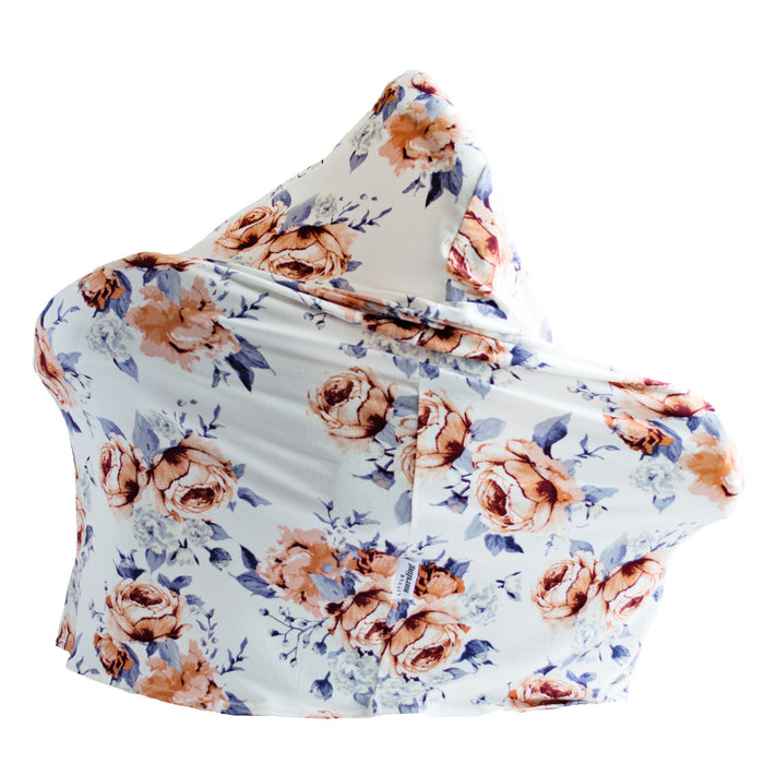 Little Nursling™ Multi-Use Cover | Sweet Periwinkle Violet Floral - LITTLEMISSDESSA
