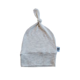 Newborn Baby Knotted Hat | Marble Grey Rib