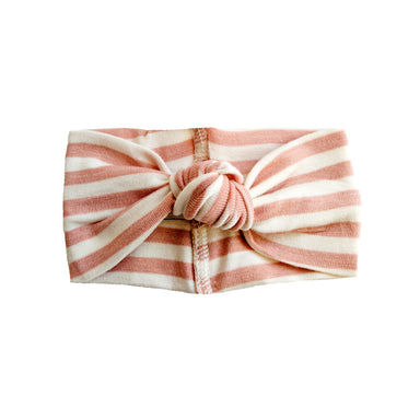 Little Nursling® Top Knot Headband | Mauve & Ivory Stripe