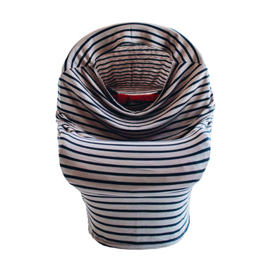 Little Nursling™ Multi-Use Cover | Taupe & Navy Stripe - LITTLEMISSDESSA