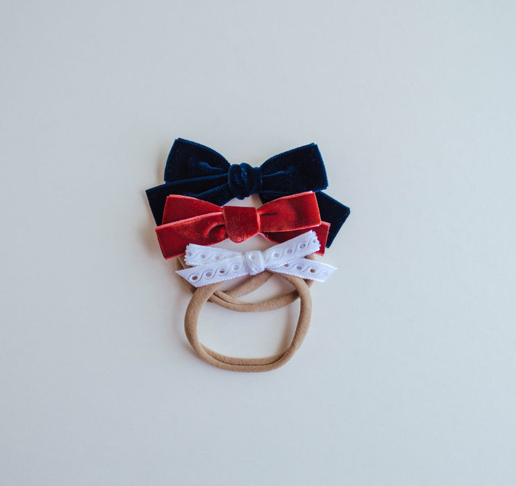 Oversized Multi Bow Headband Set | Liberty - LITTLEMISSDESSA