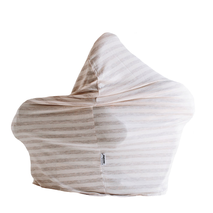 Little Nursling™ Multi-Use Cover | Oatmeal & Ivory Stripe - LITTLEMISSDESSA