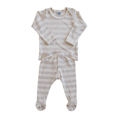 LITTLE NURSLING™ ESSENTIAL SNUGGLE SET | Oatmeal & Ivory Stripe