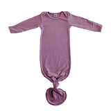 Little Nursling® Snuggle Knotted Baby Gown | Orchid Rib