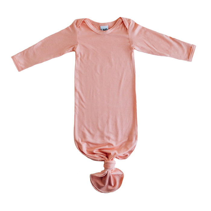 Peach Knotted baby gown