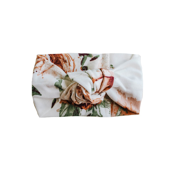 Little Nursling® Top Knot Headband | Peach Peony