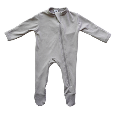Cozy Zipper Footie Sleeper | Pebble Grey - LITTLEMISSDESSA