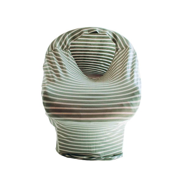 Little Nursling™ Multi-Use Cover | Sage & Ivory Stripe