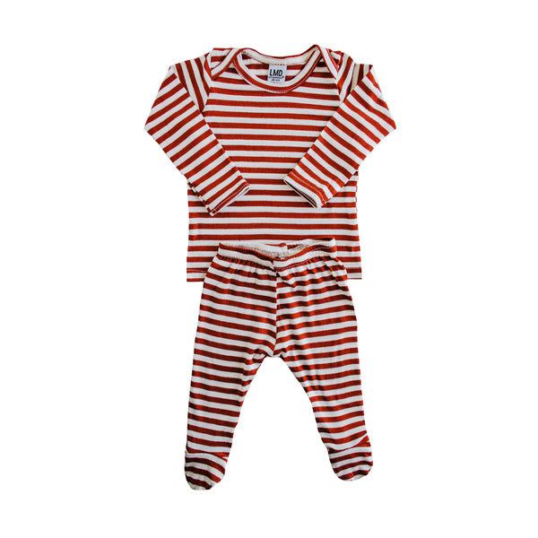 LITTLE NURSLING™ ESSENTIAL SNUGGLE SET | SCARLET & IVORY STRIPE