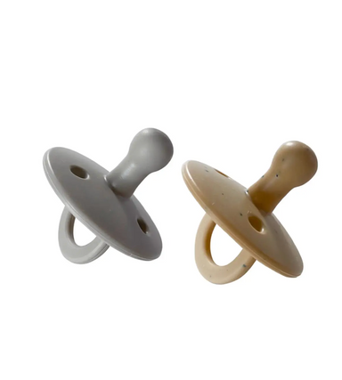 2 Pack Pacifier | Grey + Tan Speckle  0-3 months - LITTLEMISSDESSA