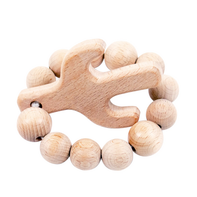 Cactus Natural Wooden Teether - LITTLEMISSDESSA