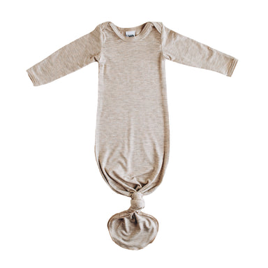 Knotted Gown | Sweet Flax Oatmeal - LITTLEMISSDESSA