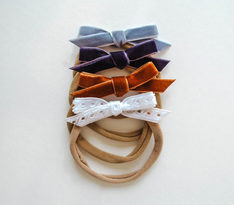 Dainty Bow Headband Set | Sweet Periwinkle - LITTLEMISSDESSA