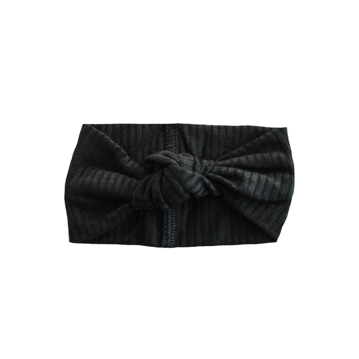 Little Nursling® Top Knot Headband | Black Rib