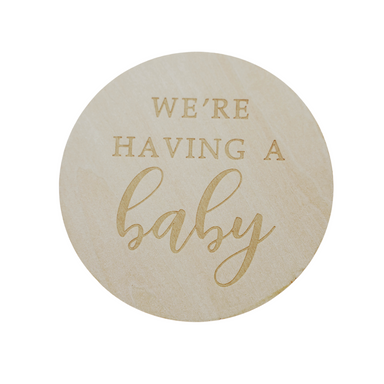 We're Having A Baby Announcement Disc - LITTLEMISSDESSA