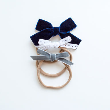 Oversized Multi Bow Headband Set | Winter Wonderland