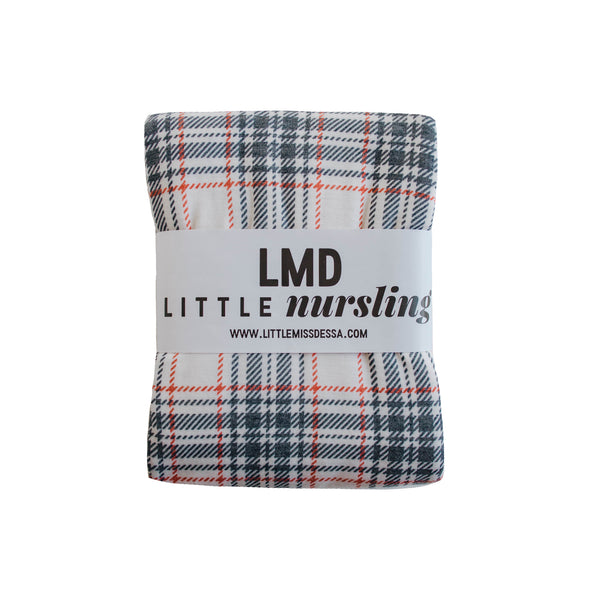 Little Nursling™ Knit Jersey Swaddle Baby Blanket | Winter Plaid