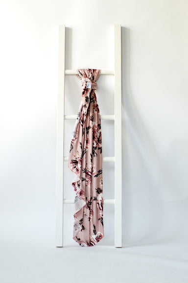 Knit Jersey Swaddle Baby Blanket - English Rose Floral Print