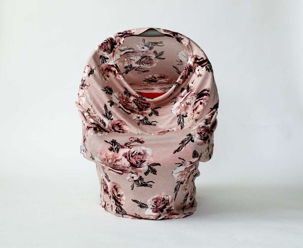 Multi-user nursing cover in english rose floral print design