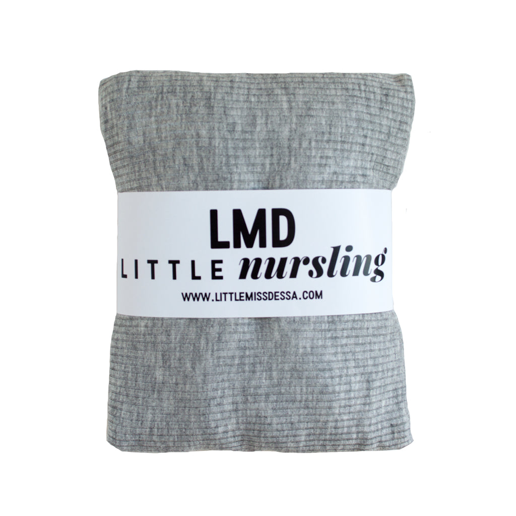Little Nursling™ Knit Jersey Swaddle Baby Blanket | Heather Grey Rib