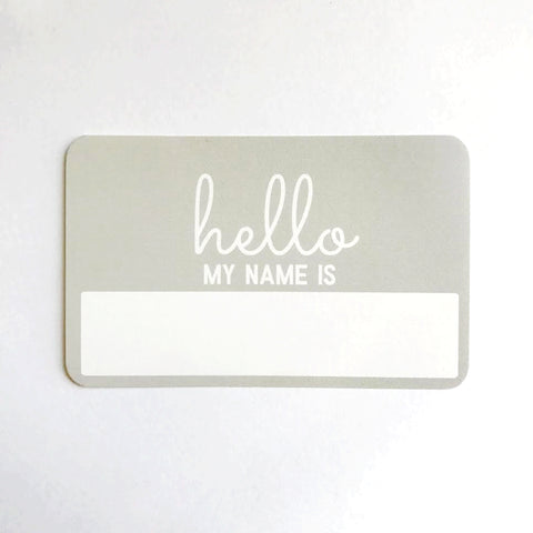 Newborn Photo Prop - Hello My Name is Announcement Sticker