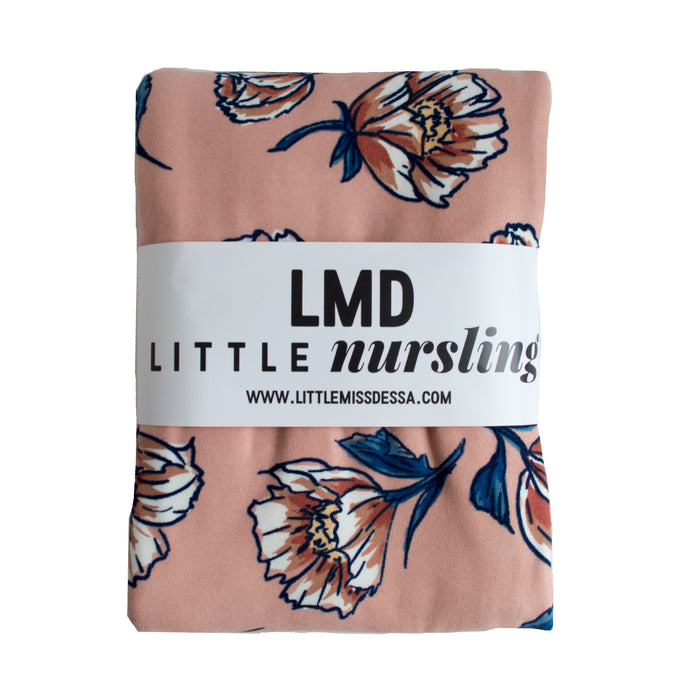 Little Nursling™ Knit Jersey Swaddle Baby Blanket | Blush Poppy - LITTLEMISSDESSA