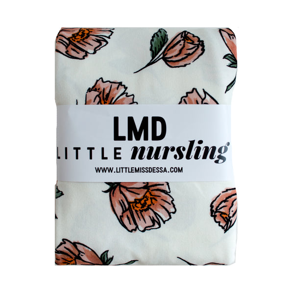Little Nursling™ Knit Jersey Swaddle Baby Blanket | Vanilla Poppy