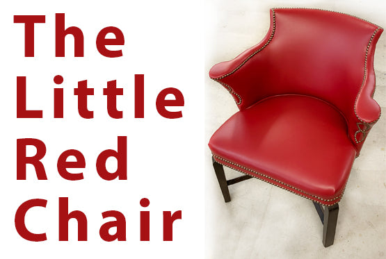 The Little Red Chair Re Upholstery Project at Jacobs Custom Living | Spokane WA