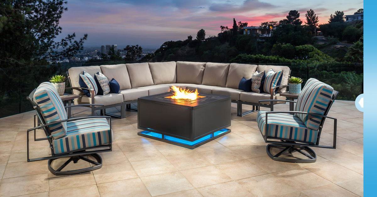 modern fire tables at Jacobs Custom Living