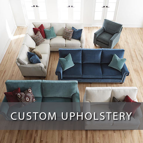 Custom upholstery at Jacobs Custom Living